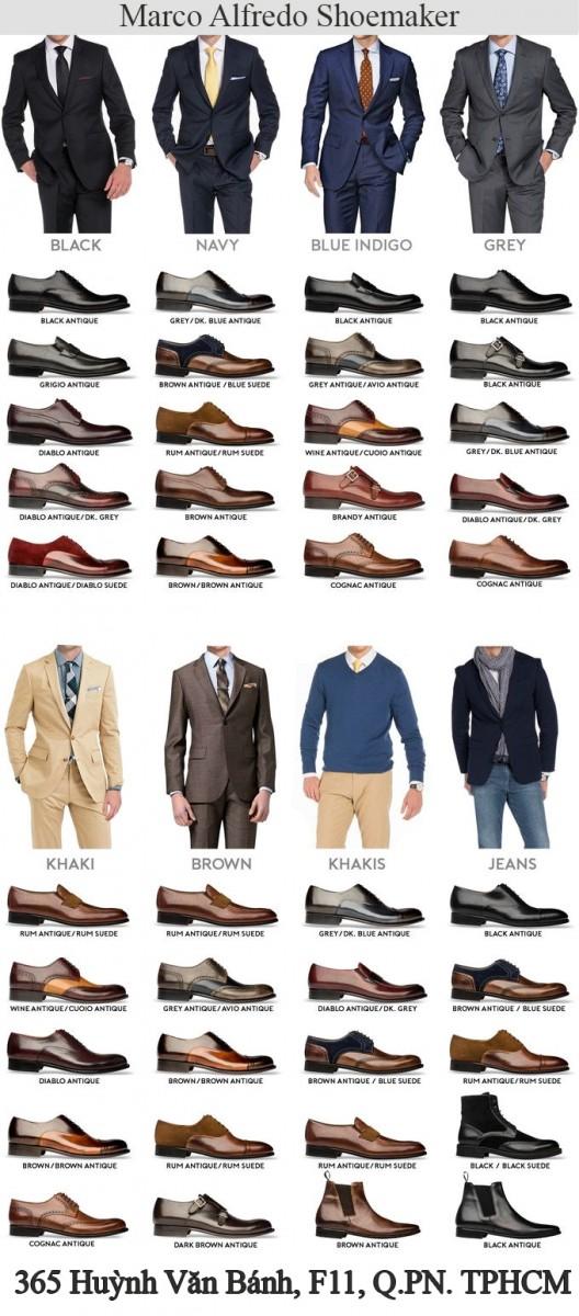 Hướng dẫn chọn giày tây phù hợp trang phục